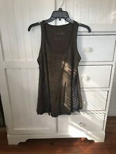 Olive Green And Navy Blue Lace Free People Flowy Tank Top Size Small