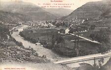 Carte postale ancienne LOZÈRE FLORAC vue prise du plateau bessède  timbrée 1909