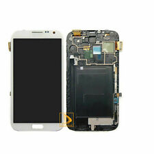 For Samsung Galaxy Note 2 N7100 LCD Display Touch Screen Assembly Frame White #6