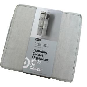 Target Made By Design 6 Shelf Hanging Fabric Storage Organizer Light Gray S-Hook