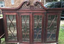 Vintage 1850-? Buffet-China Cabinet Combo Hand Carved Mahogany-Large-Gorgeous!