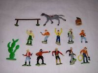 1960 Marx Miniature Western Town Playset 14 pieces ~~~~~~~~~~VERY NICE CONDITION