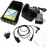 Battery +Charger +Earpiece &EU Adapter for Kenwood TK-360, TK-270 TK-3102 TK-378