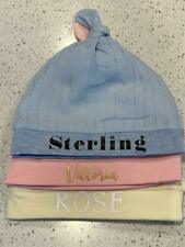 Organic Cotton Personalised Newborn Baby Bonnet Cap Hat