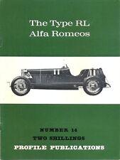 Type RL Alfa Romeos by Peter Hull & Luigi Fusi Profile Publications no.14