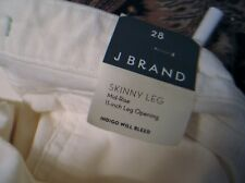 "J. Brand Skinny Jeans Size 28 NWT Mid Rise 11"" Leg Opening 30"" Inseam Corduroy"