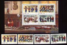 Irland 1847/50 + Block 75 Musikgruppen postfrisch