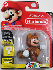 World of Nintendo ~ TANOOKI MARIO Action Figure ~ Super Mario Brothers (Bros.)
