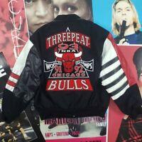 Jeff Hamilton Chicago Bulls 3Peat NBA 1993 Championship Leather Jacket XL Jordan