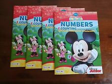 4 New Unused Disney Mickey Mouse Clubhouse Numbers & Counting Learning Workbooks