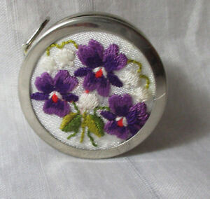 EMBROIDERY TAPE Measure,ORCHARD FLOWERS; Antique Original c1920's