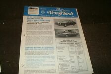 1975 FORD MUSTANG II TAKES ON CHEVY MONZA DEALER NEWSFLASH BROCHURE SHEET RARE