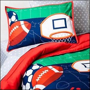 7 Piece- Circo SPORTS Reversible Comforter +Shams +Sheets Football Baseball FULL