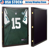 Hockey Jersey Display Case Frame Shadow Box Cabinet Football Baseball Basketball