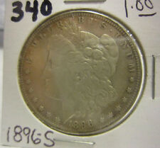 1896-S Morgan Silver Dollar Circulated Ungraded Uncertified Lot 340