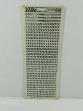 10  FOGLI TRASFERELLI TRASFERIBILI VIBO UNIVERS CORSIVO  243 mm 3,75 NUMERI