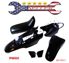 Yamaha PW50 PY50 PW 50 Plastic Fender Body Seat Gas Tank Kit BLACK