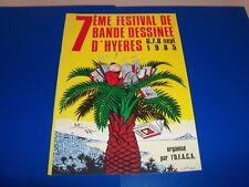 CHALAND PROGRAMME 7° Festival BD à Hyères 85 avec interview exclusive de CHALAND