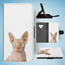 SAMSUNG GALAXY NOTE 9 FLIP CASE WALLET COVER|SPHYNX CAT 2