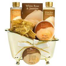 Bath Body Spa Set for Women White Rose Jasmine Aromatherapy Fragrance