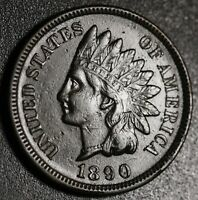 1890 INDIAN HEAD CENT -With LIBERTY & DIAMONDS - XF EF
