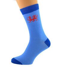 Dos Tonos Azul Calcetines Unisex galés Gales Dragón Rojo Uk Size 5-12 X6N610