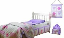 Girls Bedroom Bed Set 5 PC set Snuggle Sac Hearts and Flowers