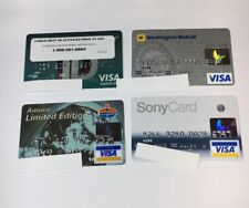 4 Expired Credit Cards For Collectors - Visa Random Collection Pulls Lot (7058)