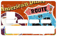 DINER'S ROUTE 66 CARTE BANCAIRE CREDIT CARD CB SKIN AUTOCOLLANT STICKER CC091
