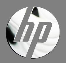 HP metalissed chrome efect sticker logo badge 40 mm