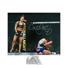 Ronda Rousey Autographed UFC 16x20 Photo - Fanatics Hologram (Laughing)