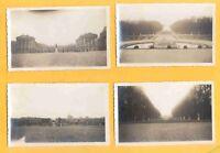 Lote. Cuatro fotografías antiguas. Gelatinobromuro. Versalles Francia. h. 1936