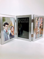 Burnes Of Boston C53346 Brushed Silver Triple Hinged Picture Frame Size 4X6 in