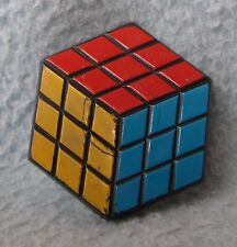 Vintage Rubik's Cube Plastic Magnet, Souvenir Travel Refrigerator
