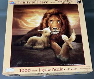 RARE SunsOut Trinity Of Peace 1000 Piece Jigsaw Puzzle William Hallmark Artwork
