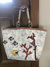Authentic COACH Large Tote Summer Beach Bag Purse UNDER THE SEA #4458
