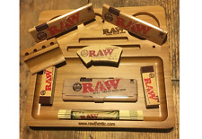 Raw Smoking Tray Set Classic Rolling Paper Case Raw Cone Tips Rolling Mat Filter