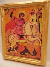 Saint George San Giorgio Rare Byzantine Catholic and Orthodox Icon on Wood