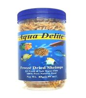 Aqua Delite Freeze dried Small Shrimp 3oz-9oz For Turtles and Fish Choose Size