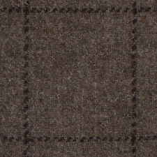 Medium Brown with Dark Brown Check Natural Undyed Tweed - 2.50 Mtrs