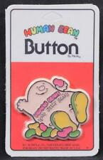 """Human Beans """"Love Jelly Beans"""" 1981 Button by C. M. Paula Co. New/Old Stock"""
