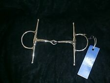 """FULL CHEEK SNAFFLE BIT Horse size 5""""  Stainless Steel  English  Showing  Hunting"""