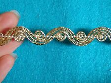 1M gold trim trimming edging braid gimp upholstery sewing metallic 10 mm UK -2