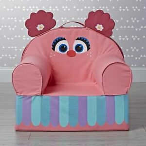 NWT Crate & Barrel Kids The Land of NOD sesame street Abby Cadabby chair cover