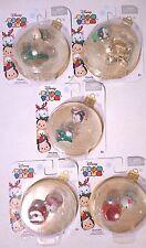5 Disney Holiday Vinyl Tsum Tsum Set w Hanging Accessory Christmas Ornament Lot