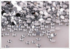 800pcs 4mm 14 Facets Crafts Resin Rhinestone Gems Flat Back Crystal Beads Clear