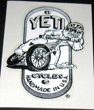 YETI BMX Man sliding head badge decal