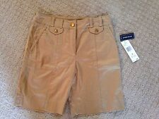 NWT Women's Jones Of New York Khaki Tan W/Stretch Shorts-Size 4