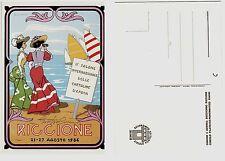 #RICCIONE 1986- II SALONE CARTOLINE -dis. CUMO con suo autografo