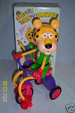 Yeh Cartoon Leopard Animal Riding On Tricycle Motorized
